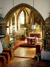 kostel sv.Martina zevnitř