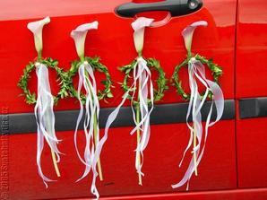 kaly budu mít ve svatební kytici i na autě