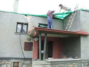 dočasné prekrytie domu