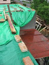 dočasné prekrytie strechy