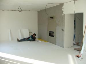 rozložený podlahový polystyrén