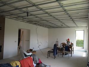 konštrukcia na sadrokartónový strop