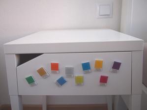 farebné magnetky - vlastná výroba