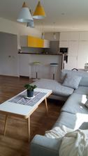 pohľad z obývačky - s novými lampami