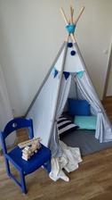 chlapčenský stan, výška 160 cm, podložka 110 x 110cm