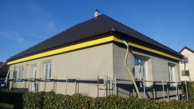 zateplovanie fasády - polystyrénom hrúbky 20 cm