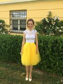 Žltá tylová sukňa, 36