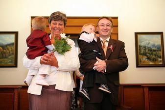 moje maminka, můj syn, tchán a švagr...