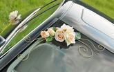 Dekor na svadobné auto