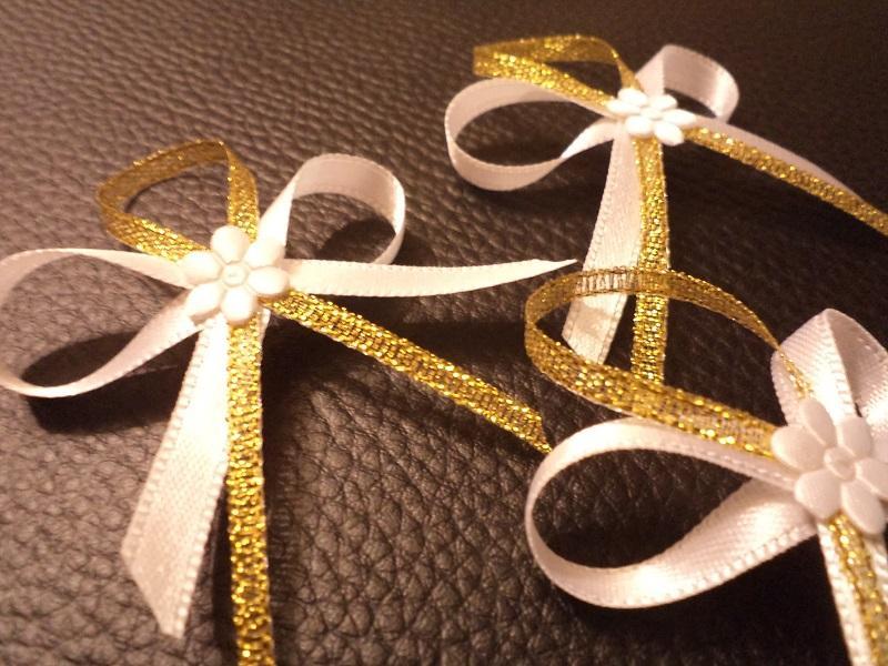 Svadobné pierka,zlaté - Obrázok č. 1