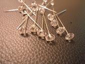 Špendlíčky 55 mm 50 ks v balení diamantové,
