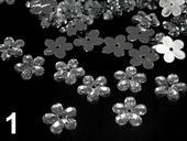 Akrylové kvetinky 11 mm-100 ks strieborné,