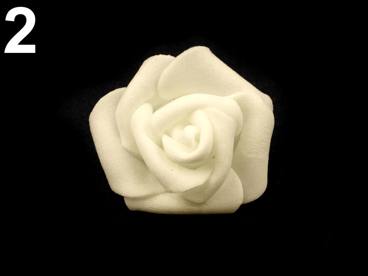 Ružičky k dekorácií, rôzne farby 3 cm - Obrázok č. 1