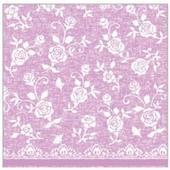 Luxusné obrúsky 40x40 cm netkaná textília ružová,
