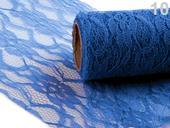 Dekoračná čipka šírka 15 cm/4,5 m tmavá modrá,
