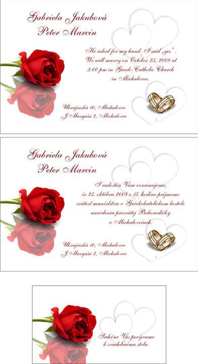 Marcin a Jakubová - ... a nase oznamenie je uz na svete ...