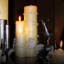 sviečky na hlavný stôl, už mám doma nachystané