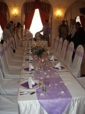 Svatební oběd na zámku
