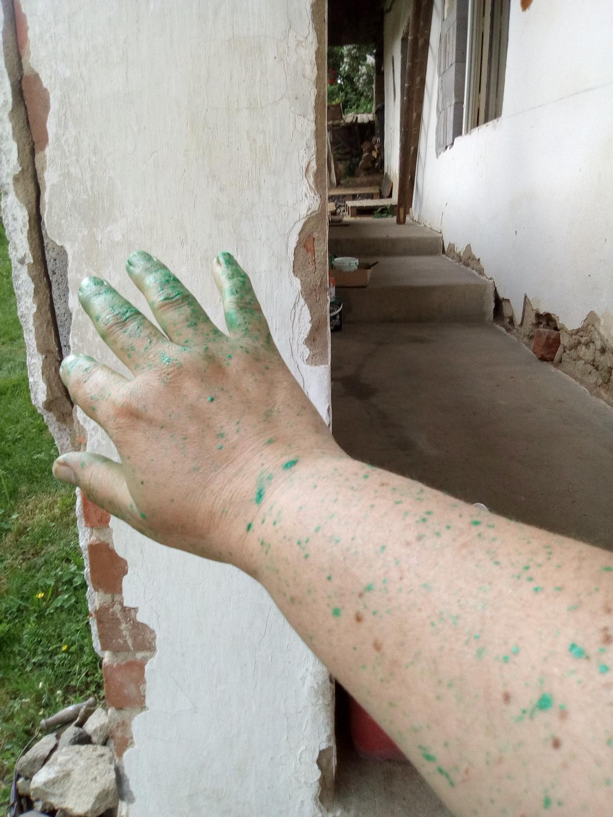 """Naša """"oddychovka"""" - Zelená je tráva...aj ruky,nohy,no celá som sa musela odzeleniť"""