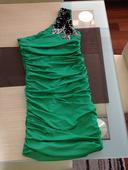 Zelené šatičky s aplikací, družička/svatebčan, 36