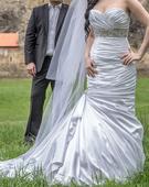 Luxusní svatební šaty Maggie Sottero + dárek, 36