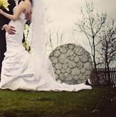 Maggie Sottero, bílé svatební šaty,pás Swarovski, 36