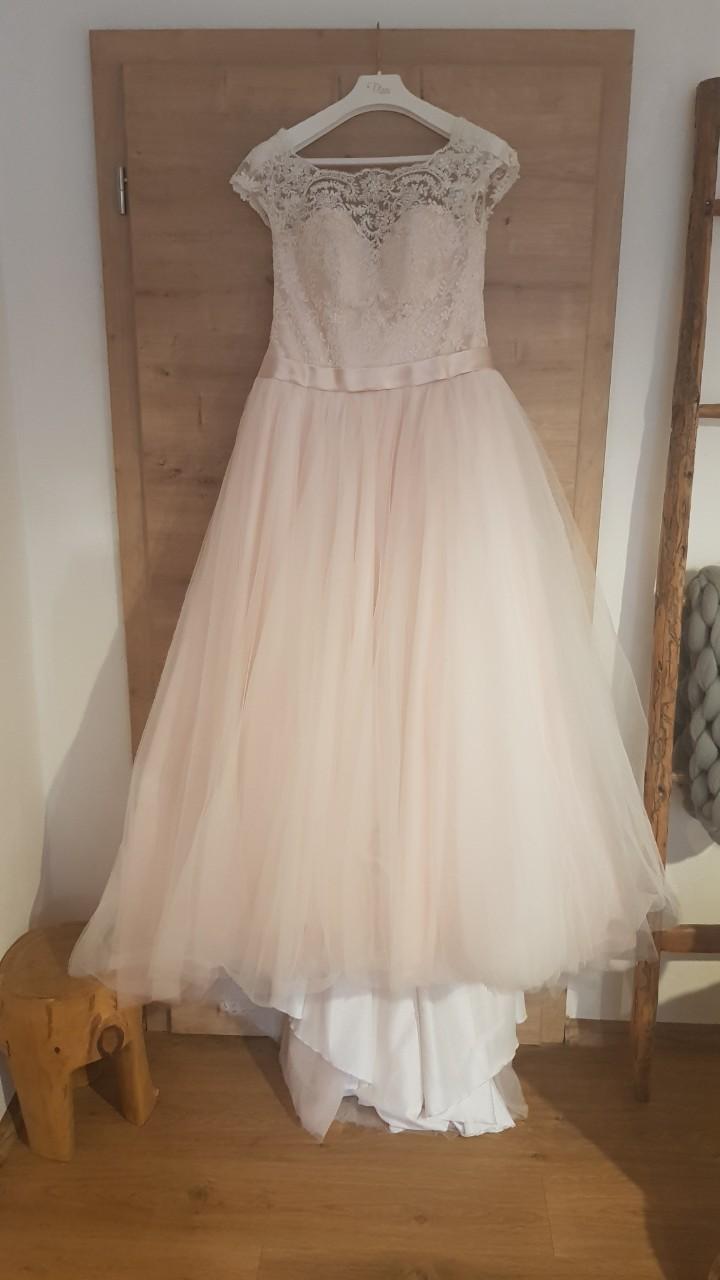 Šaty Tina Valerdi svetloružové  - Obrázok č. 1
