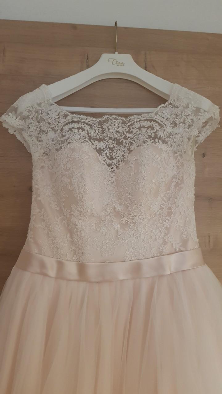Šaty Tina Valerdi svetloružové  - Obrázok č. 2