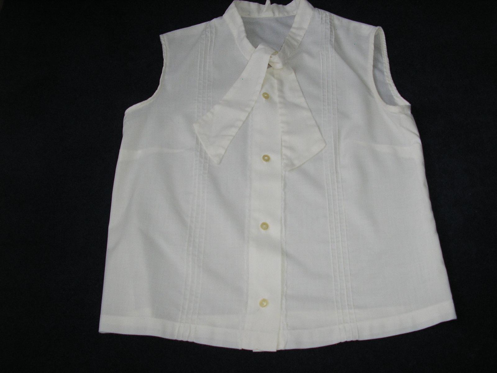 85. Biela blúzka bez rukávov - Obrázok č. 1
