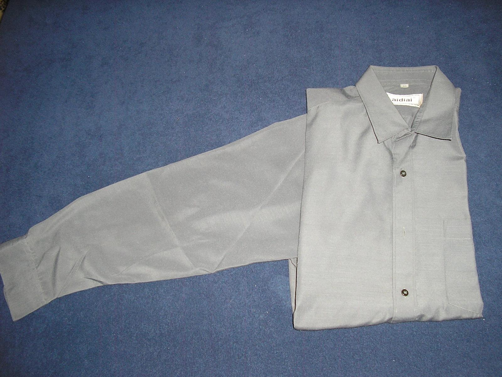 113. Sivá pánska košeľa  - Obrázok č. 1