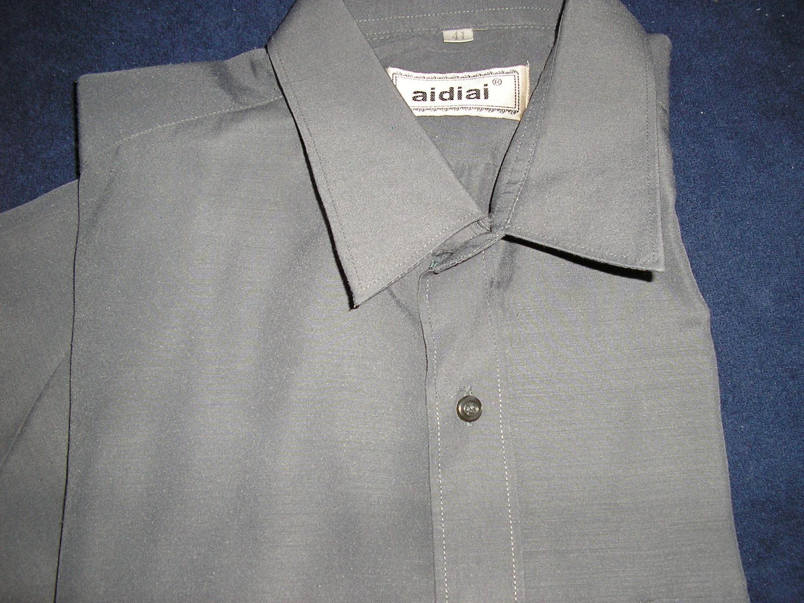 113. Sivá pánska košeľa  - Obrázok č. 2