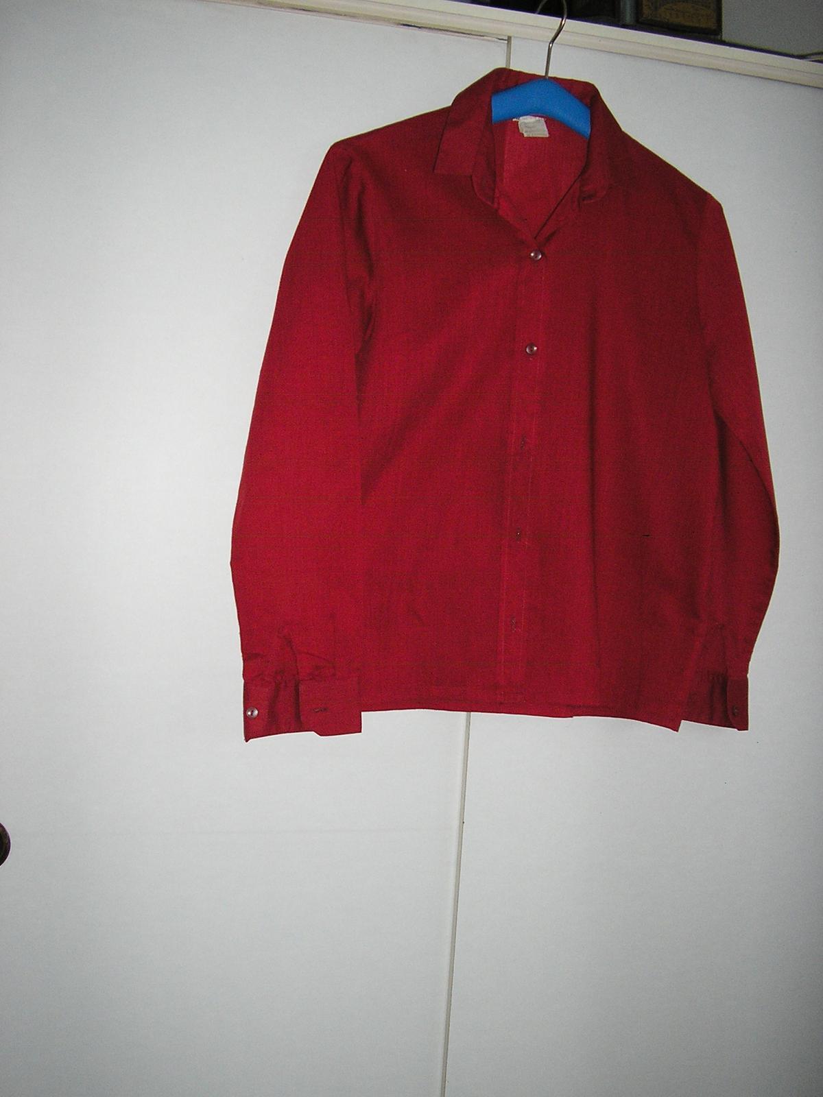 114. Bordová dámska košeľa  - Obrázok č. 1