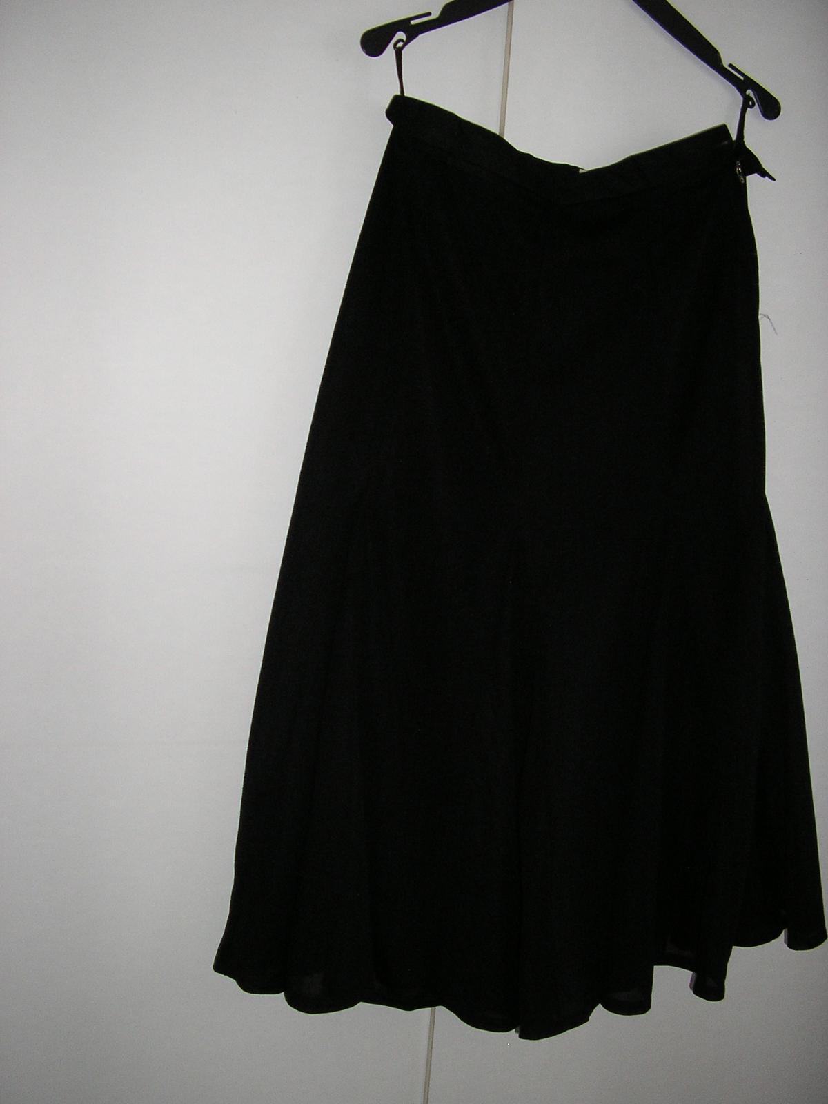 590. Čierna spol. sukňa - Obrázok č. 1