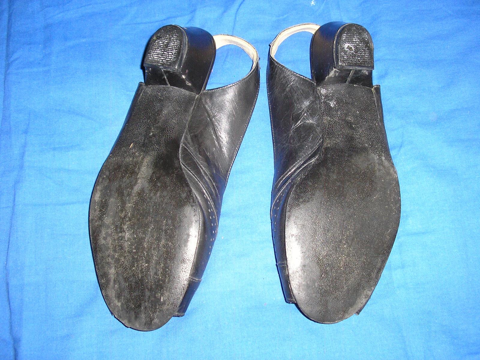 629. Čierne sandále                           - Obrázok č. 3