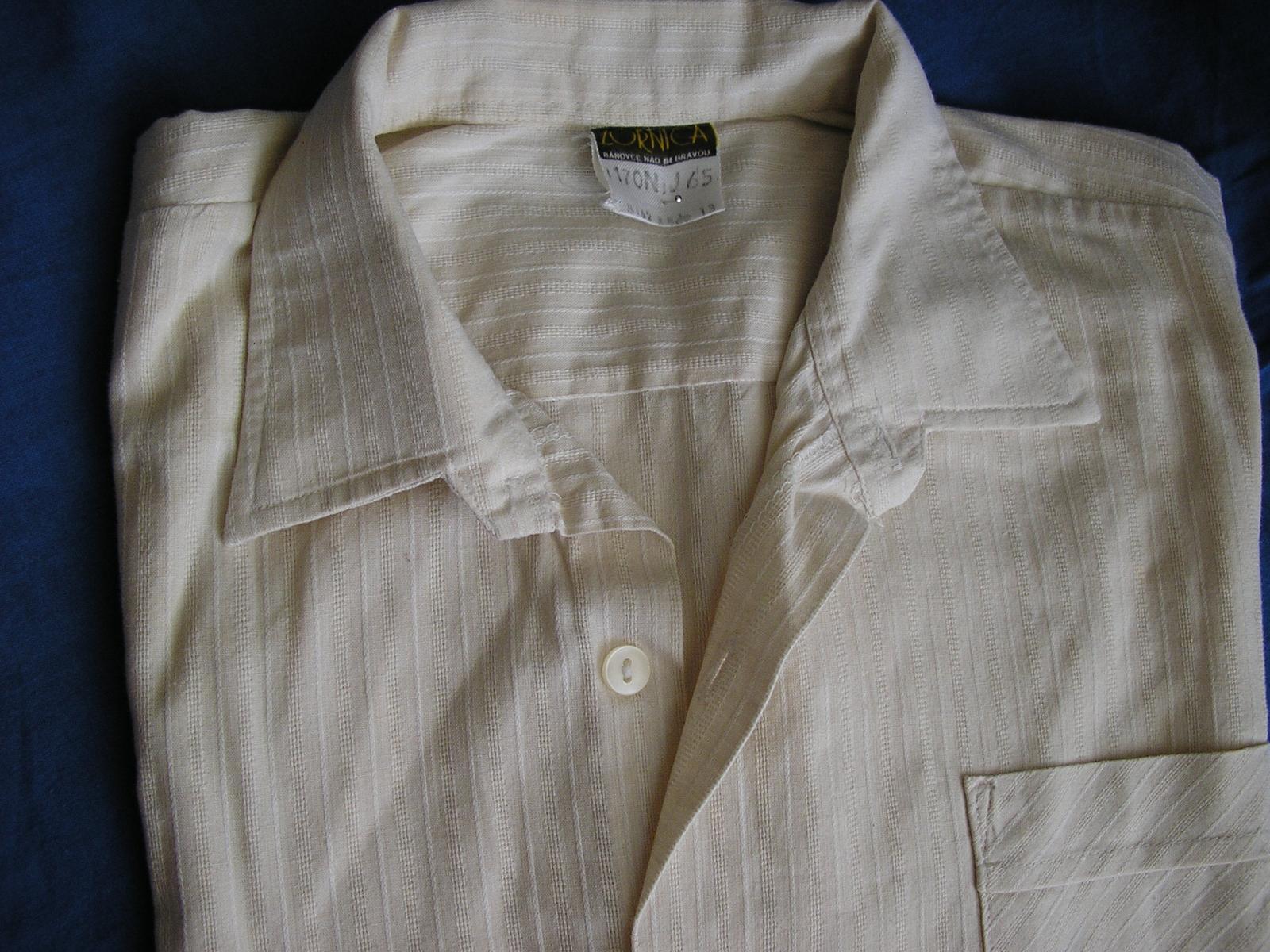 812. Krémová košeľa chl.    - Obrázok č. 2