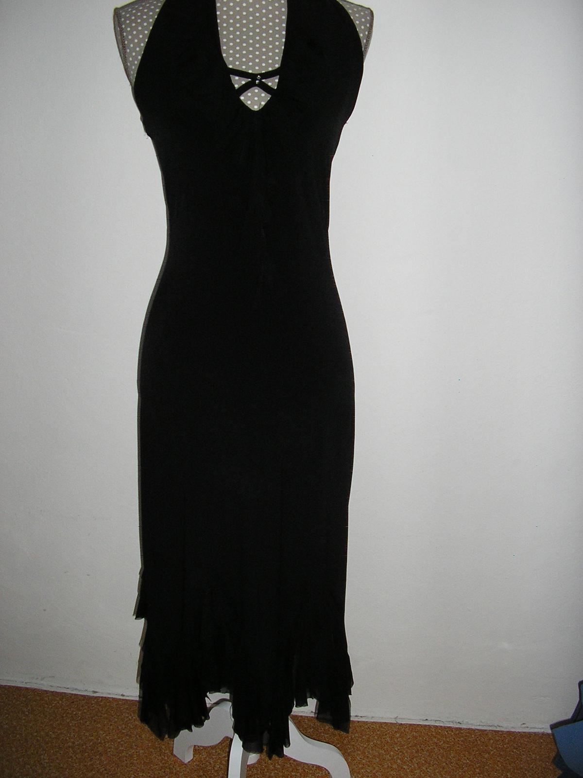 858. Čierne spol. šaty      - Obrázok č. 1