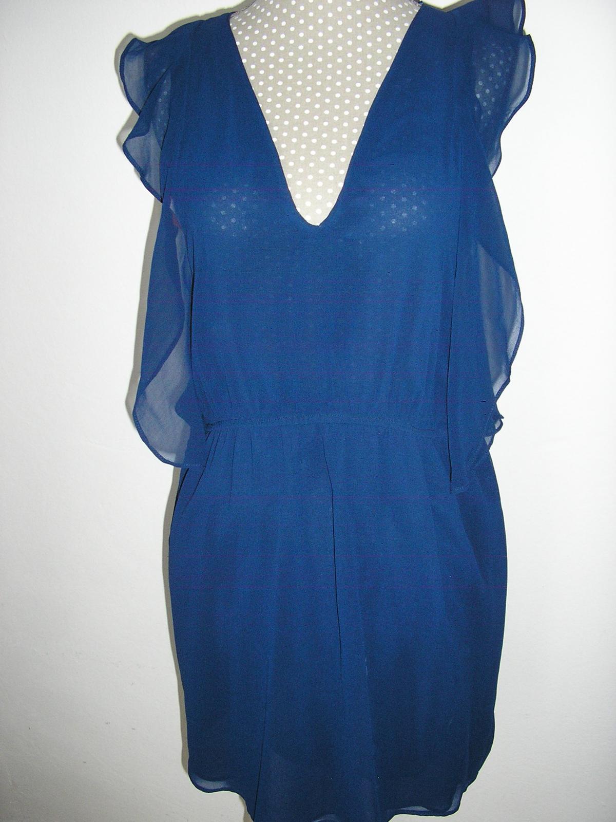 383. ZARA tmavo modré šaty  - Obrázok č. 1