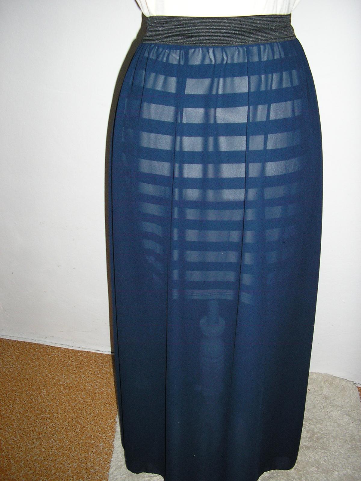 889. Sukňa tm. modrá  - Obrázok č. 1