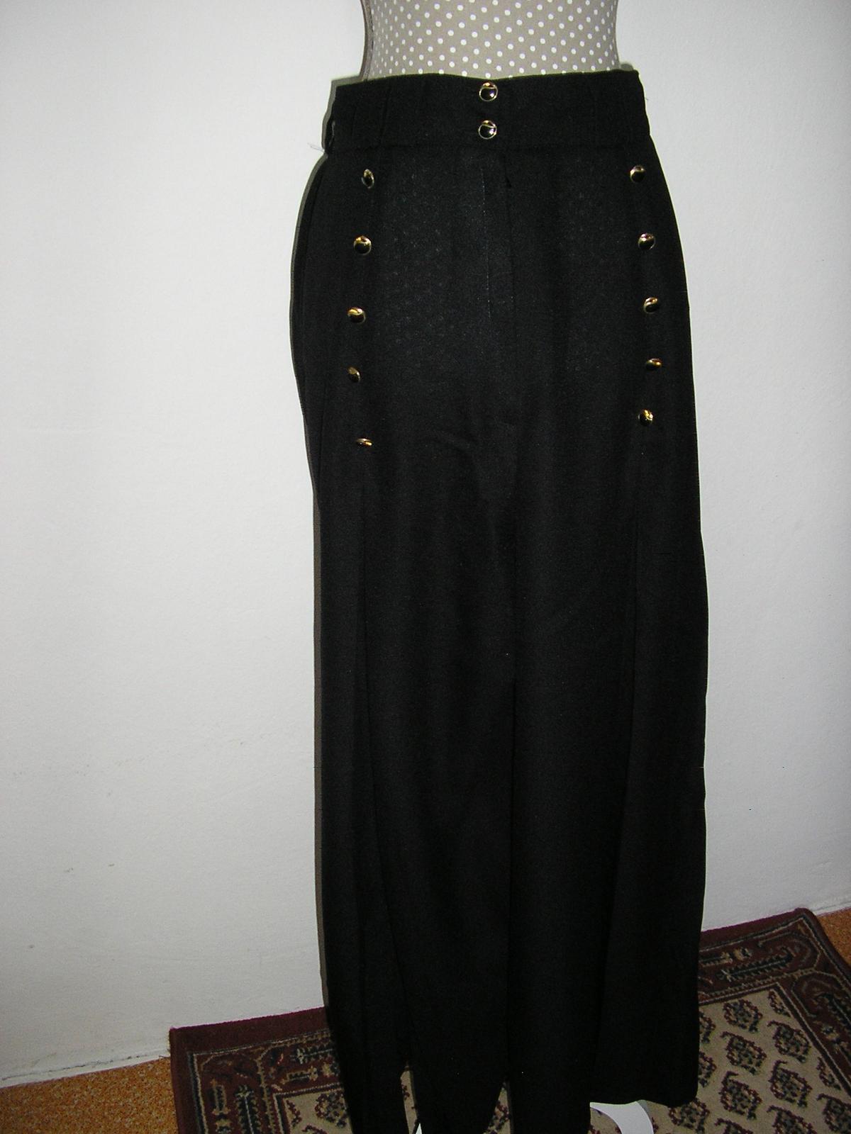 578. Nohavicová sukňa dĺhá - Obrázok č. 1