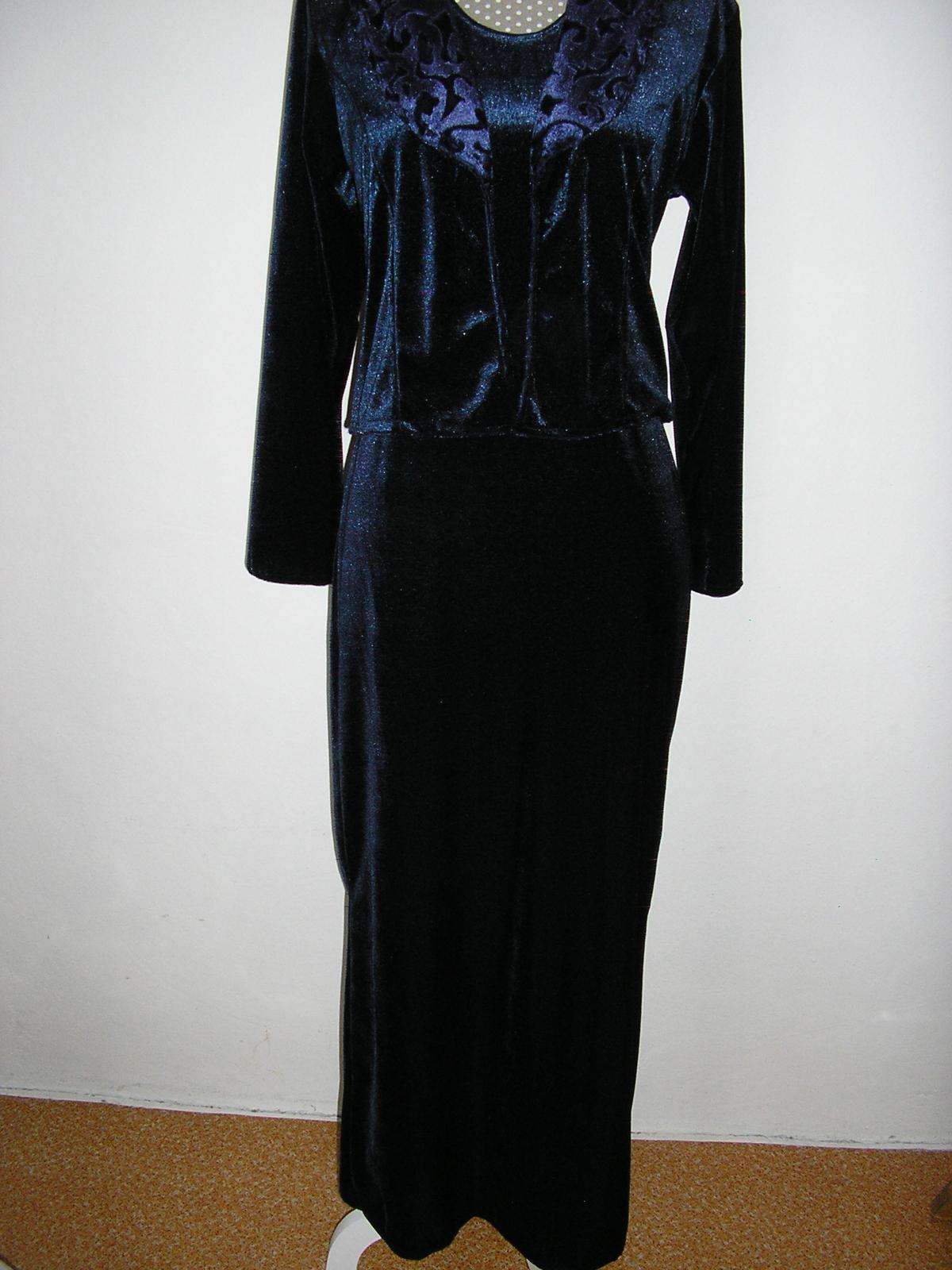 1257. Komplet dlhe šaty a vrch - Obrázok č. 1