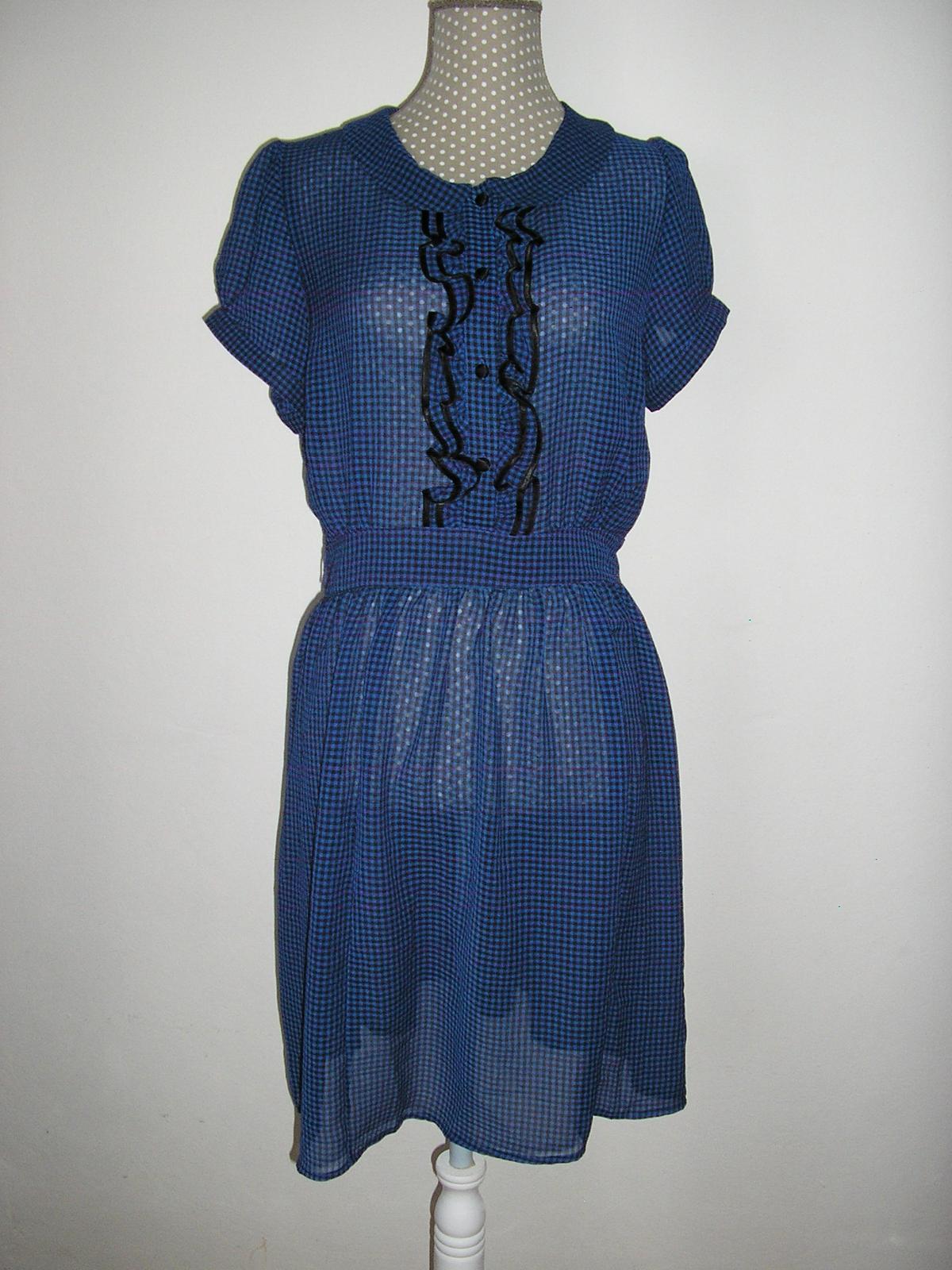 350. Atmosphere kockované šaty - Obrázok č. 1