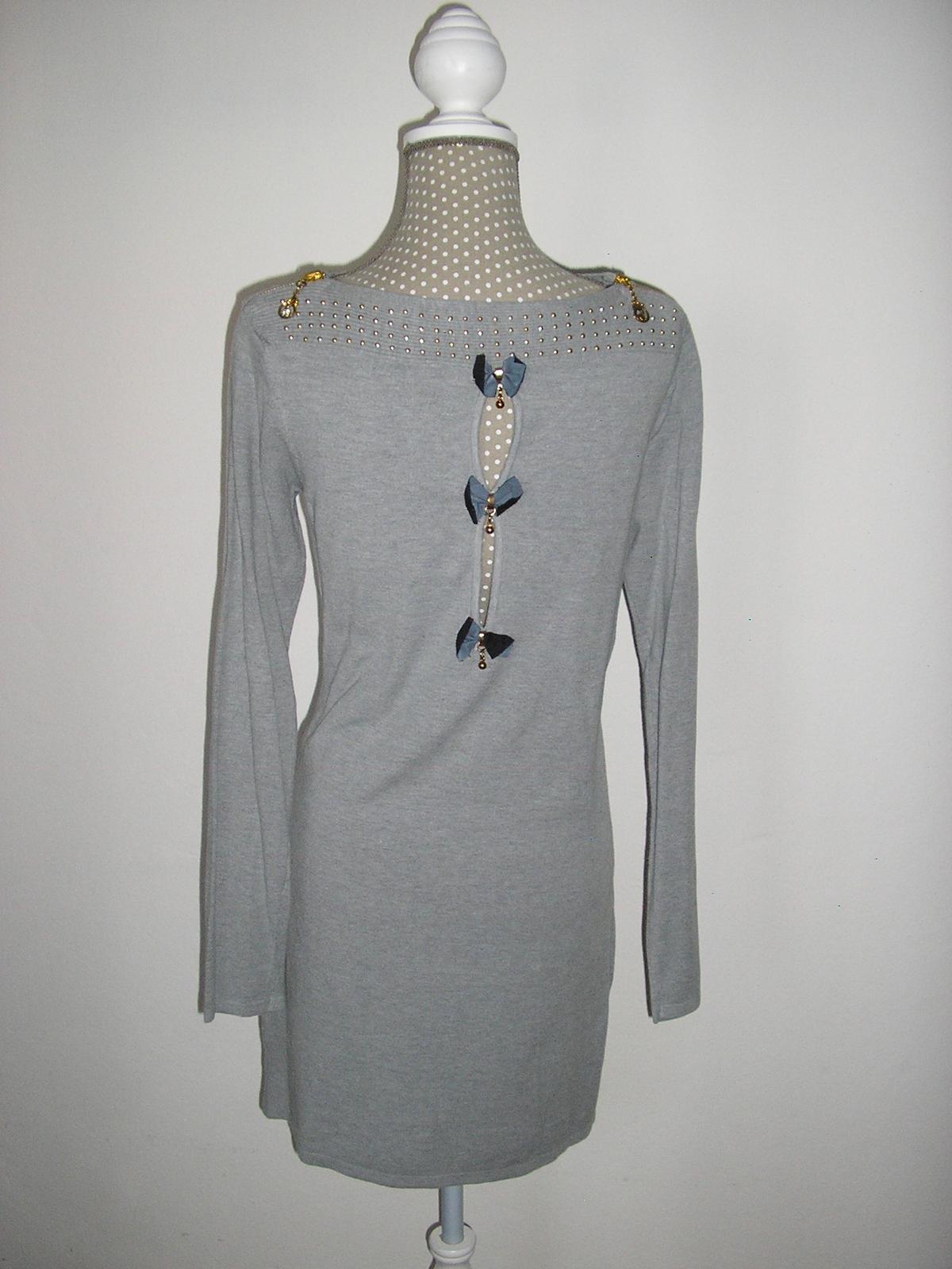 768. Sivé šaty - Obrázok č. 1