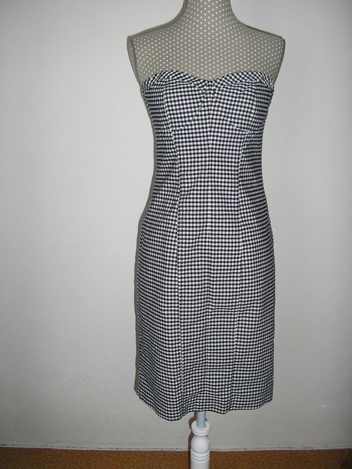 492. Kockované šaty OASIS - Obrázok č. 1