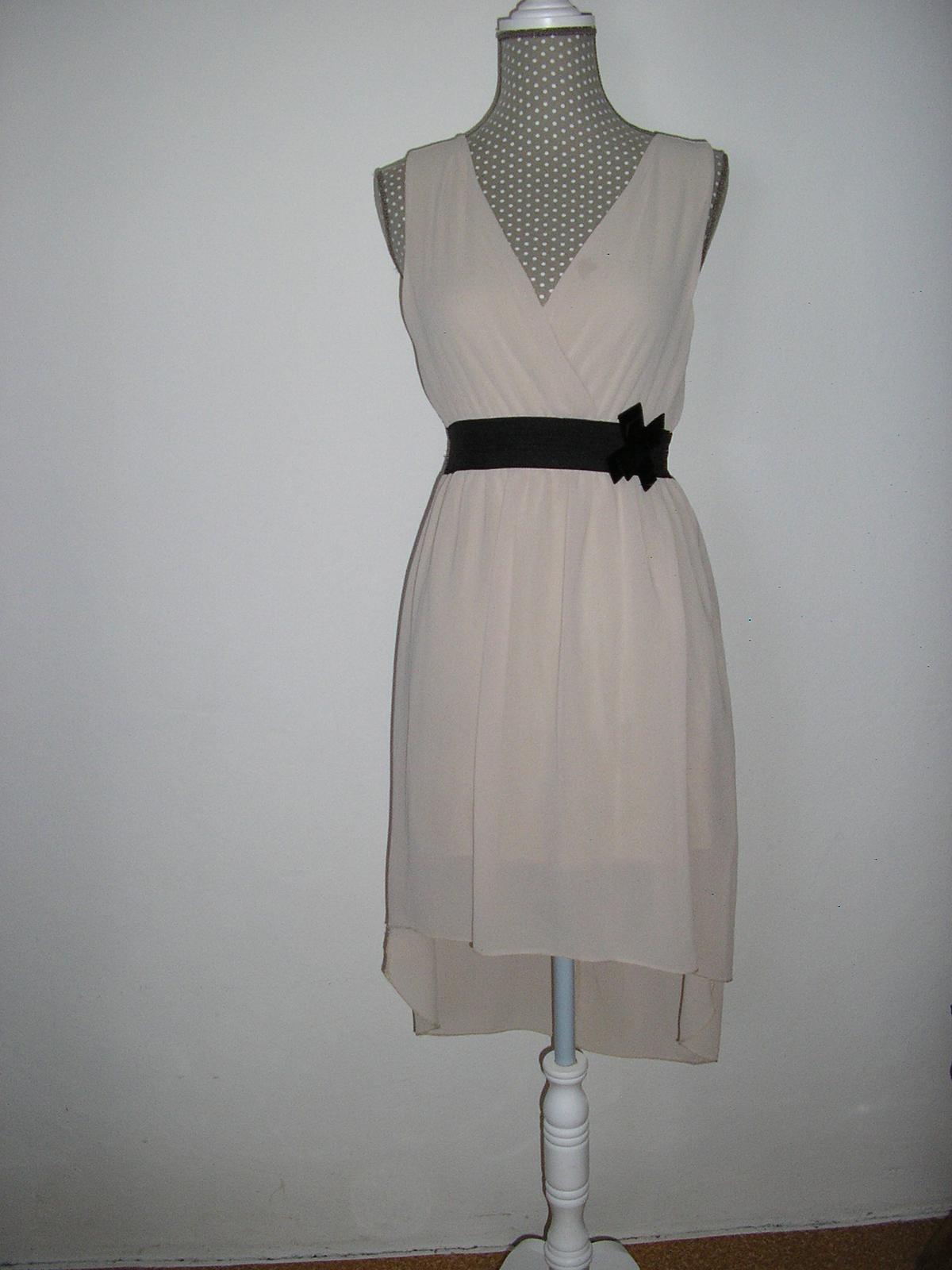 498. Krémové šaty  - Obrázok č. 1