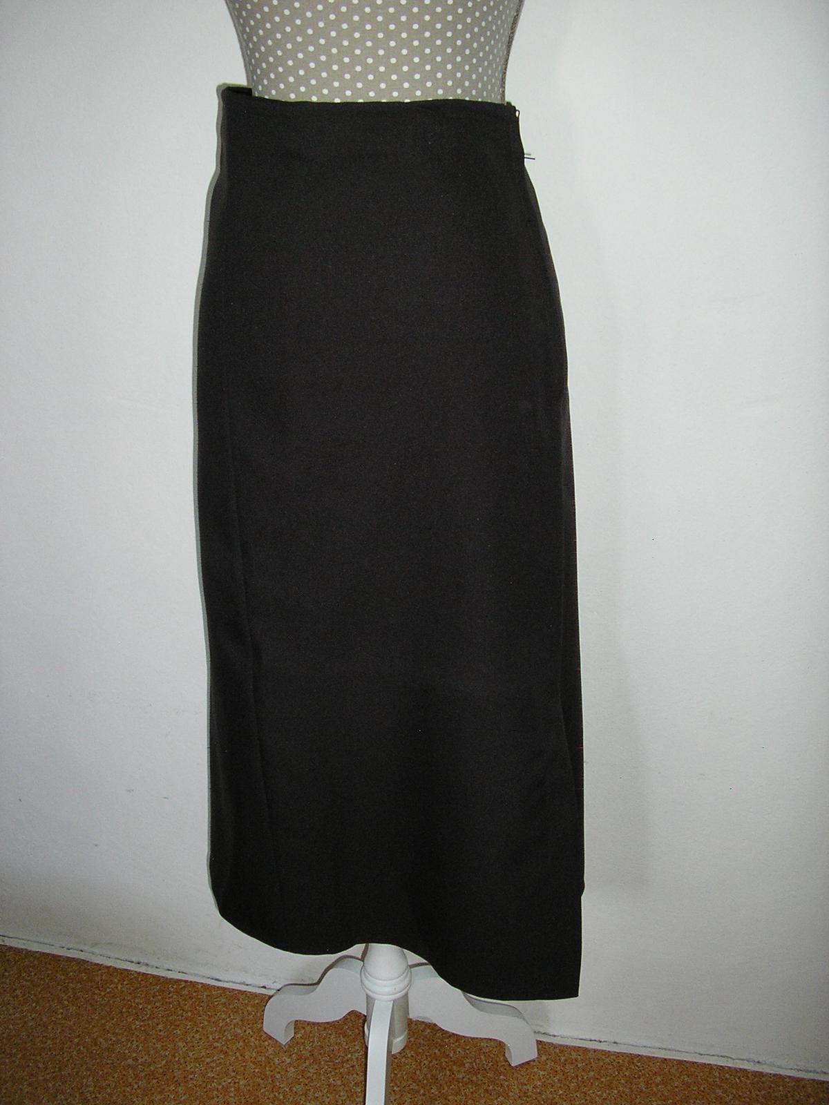 1430. Hnedá eleg. sukňa - Obrázok č. 1