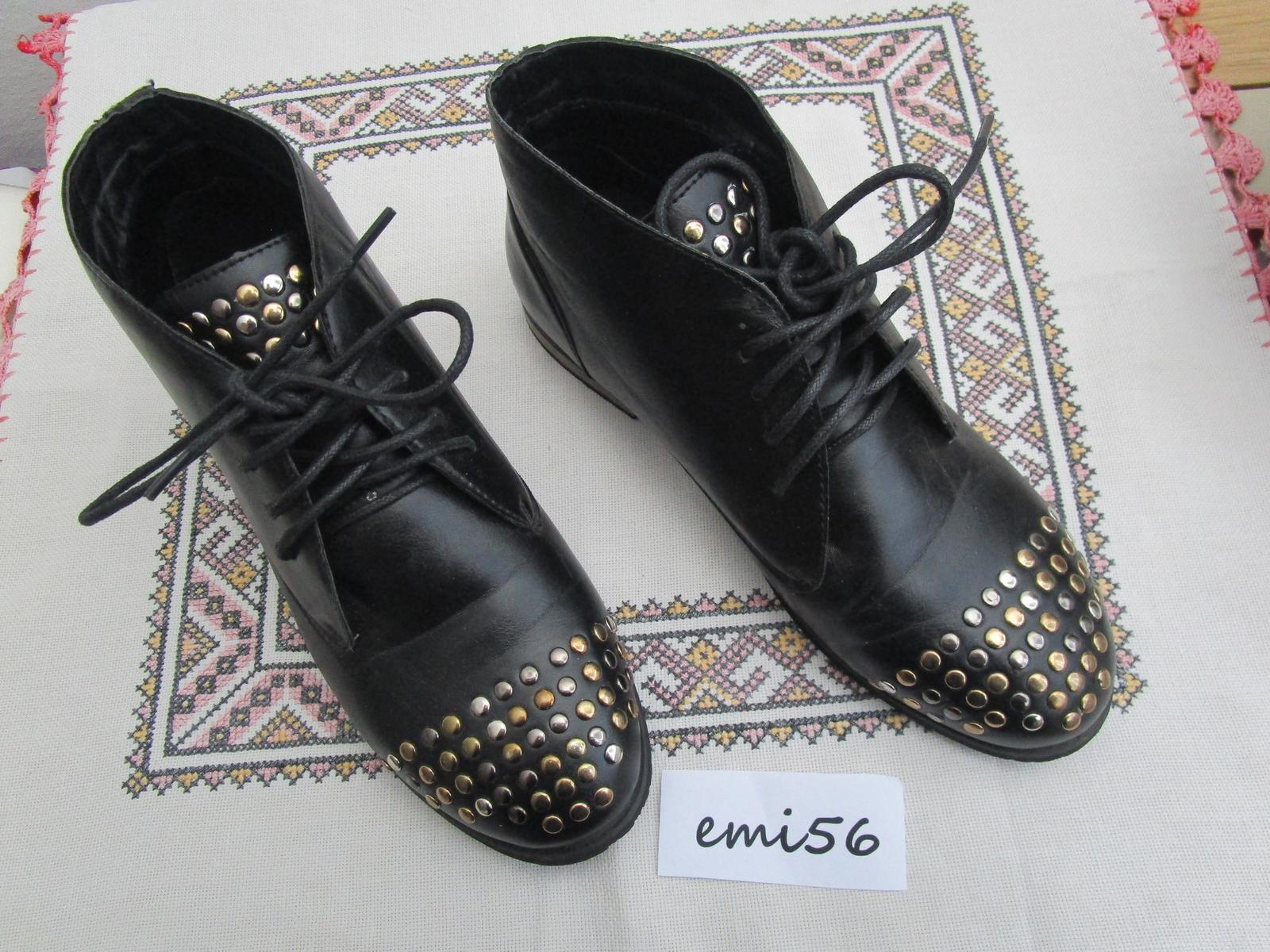 2131. Čierna obuv - Obrázok č. 1
