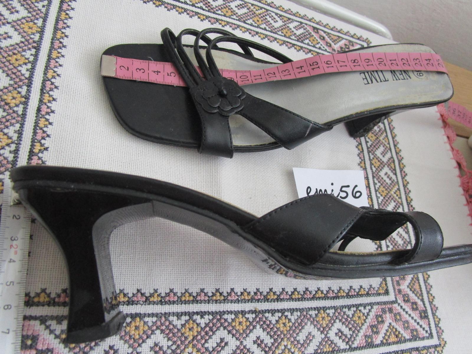 2161. Čierna obuv - Obrázok č. 2