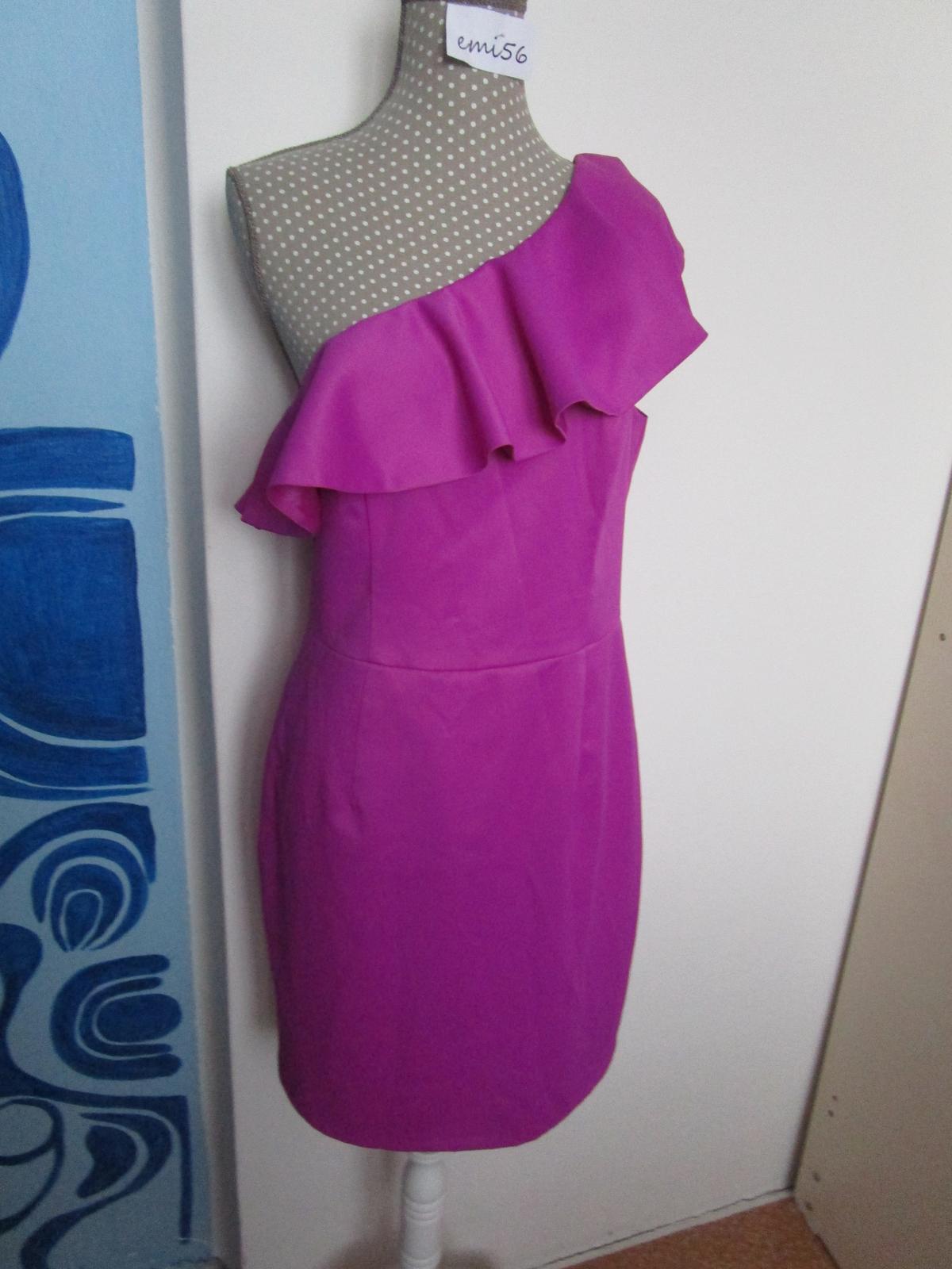 2438. Fialové šaty - Obrázok č. 1