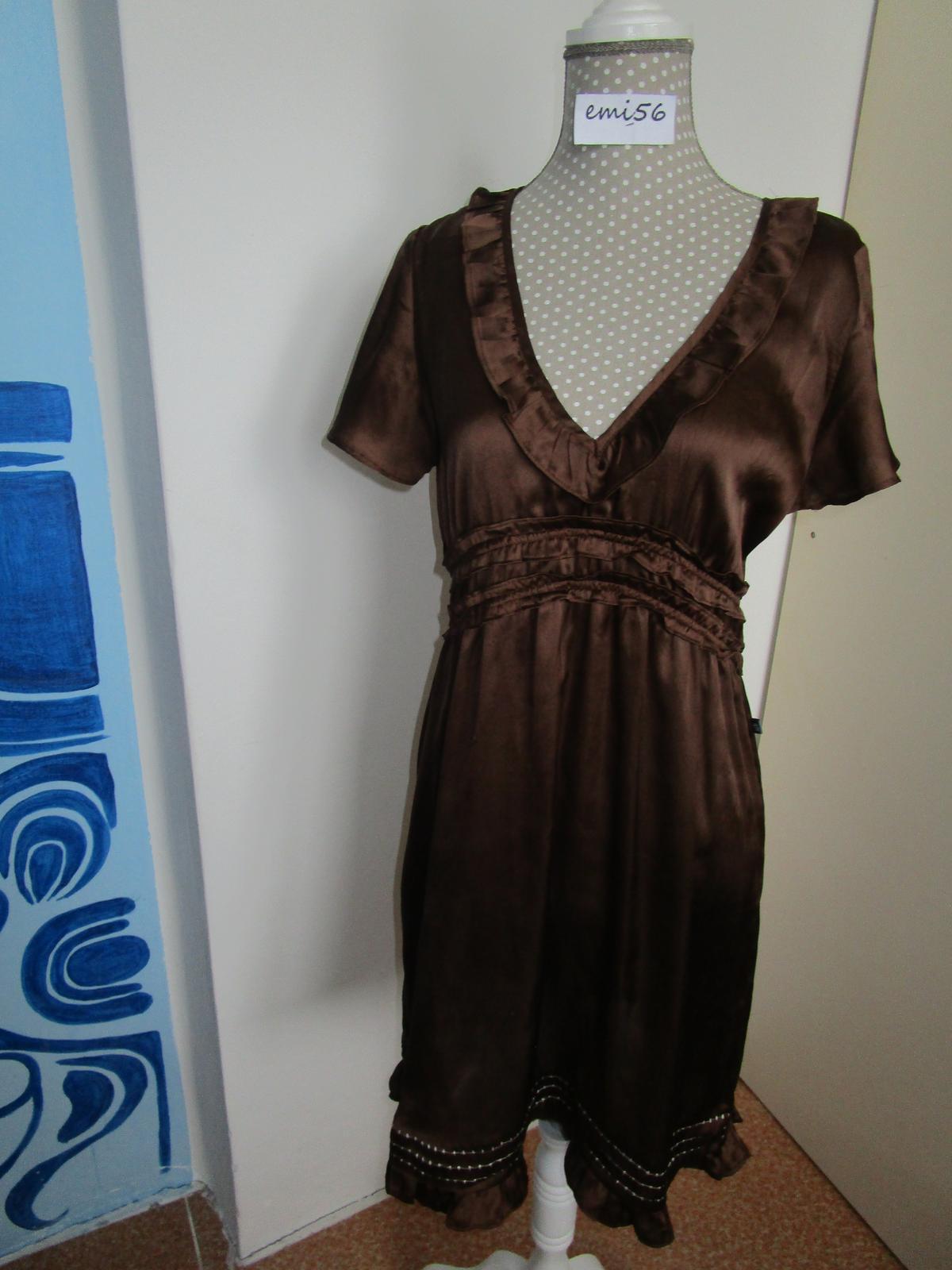 2560. Hnedé šaty - Obrázok č. 1