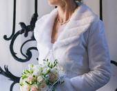 Svatební kabátek - zateplené bolerko,
